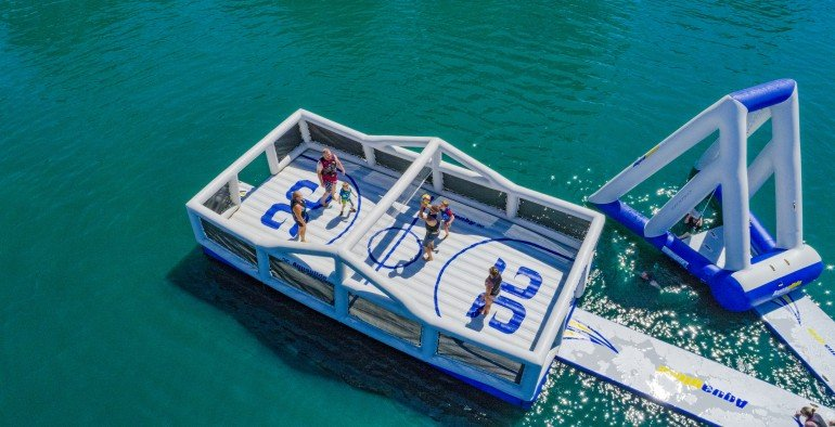 Floating sports park? Sure!